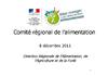 Comité Régional de l'Alimentation - 8 décembre 2011 - application/pdf